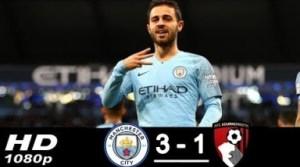 Video: Manchester city vs Bournemouth 3-1 - Highlights & Goals - Resumen (01/12/2018)